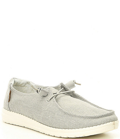 Hey Dude Women's Wendy Washable Chambray Slip-Ons