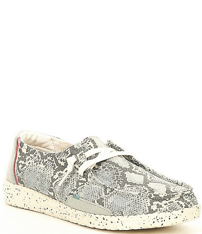 Hey Dude Women's Wendy Snake Print Washable Slip-Ons
