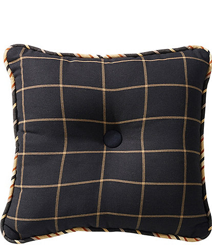 HiEnd Accents Ashbury Tufted Windowpane Pillow