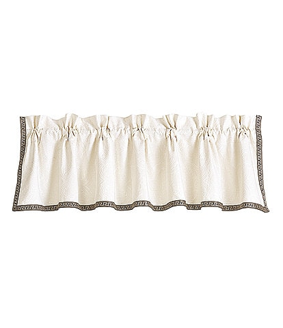 HiEnd Accents Augusta Greek Key-Trimmed Matelass Valance