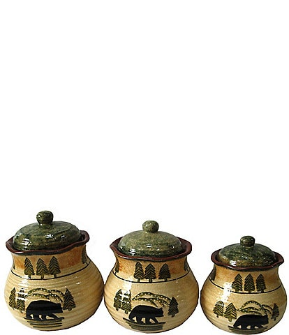 Hiend Accents Bear 3-Piece Canister Set