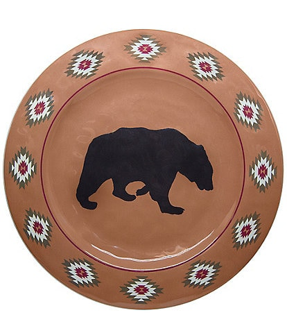 HiEnd Accents Bear Melamine Dinner Plate, Set of 4