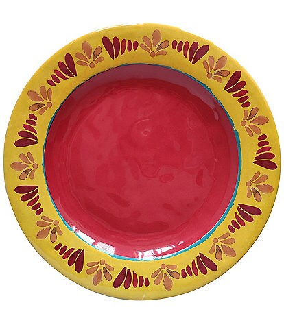 HiEnd Accents Bonita Melamine Collection Dinner Plate, Set of 4