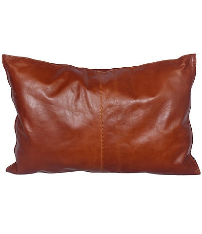 HiEnd Accents Buckskin Leather Lumbar Pillow