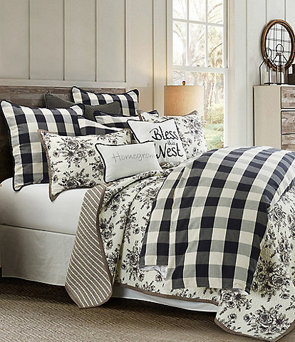 HiEnd Accents Camille Buffalo Check Comforter Mini Set