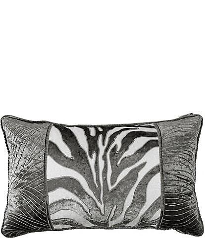 HiEnd Accents Celeste Zebra Applique Breakfast Pillow