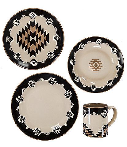 HiEnd Accents Chalet Aztec 16-piece Dinnerware Set