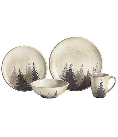 HiEnd Accents Clearwater Pines 19-Piece Dinnerware and Canister Set