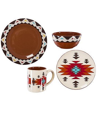 HiEnd Accents Del Sol Tribal 16-piece Dinnerware Set