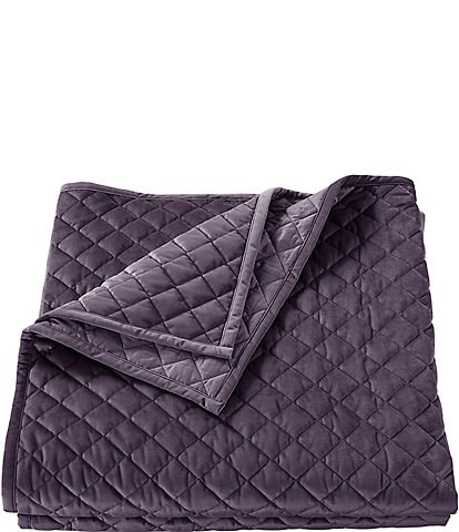 HiEnd Accents Diamond Pattern Velvet Quilt