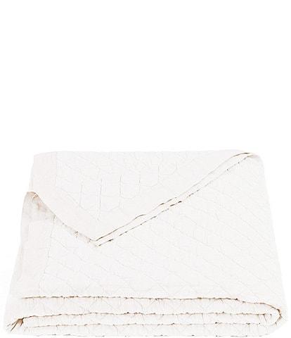 HiEnd Accents Diamond-Patterned Linen & Cotton Quilt