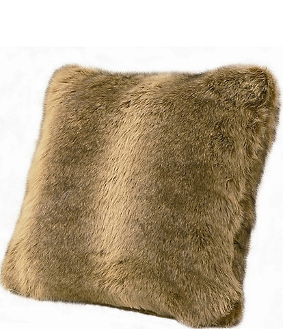 HiEnd Accents Faux Fur Wolf Pillow