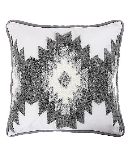 HiEnd Accents Free Spirit Crewel Embroidered Square Pillow