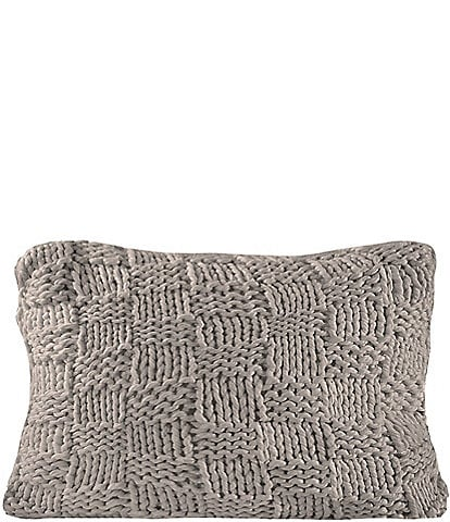 HiEnd Accents Hand Knitted Chess Dutch Euro Pillow