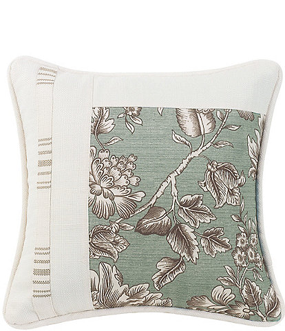 HiEnd Accents Jacobean Floral Square Pieced Pillow