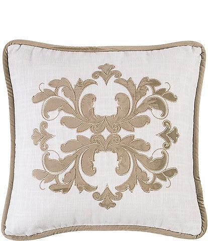 HiEnd Accents Madison Linen & Velvet Square Pillow