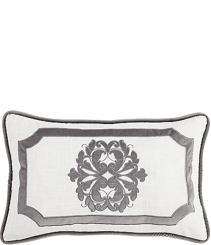 HiEnd Accents Madison Linen Framed Boudoir Pillow