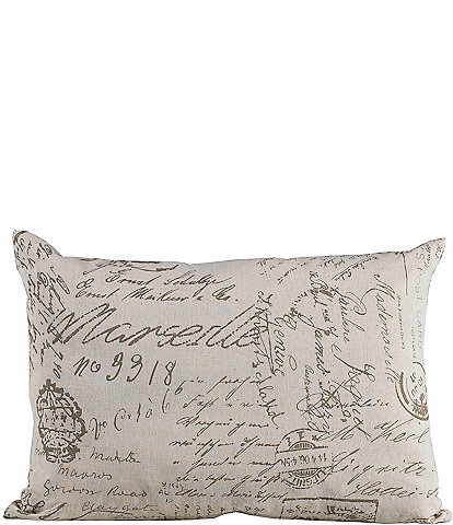 HiEnd Accents Printed Linen Pillow