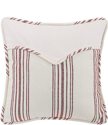 HiEnd Accents Red Stripe Envelope Square Pillow