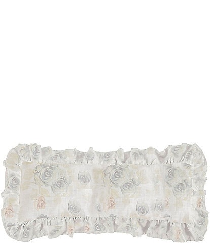 HiEnd Accents Rosaline Floral Ruffled Pillow