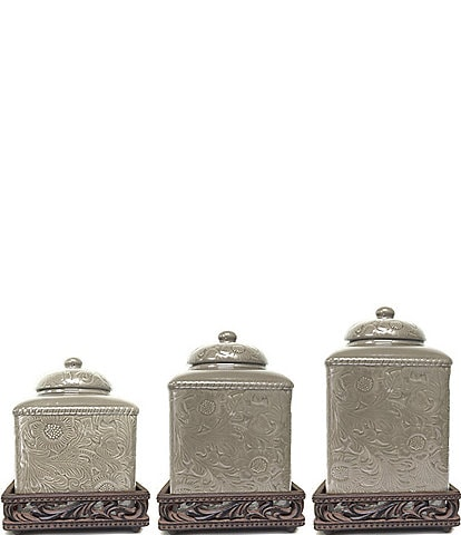 dillards kitchen canisters grey kitchen canisters dillard s 6434