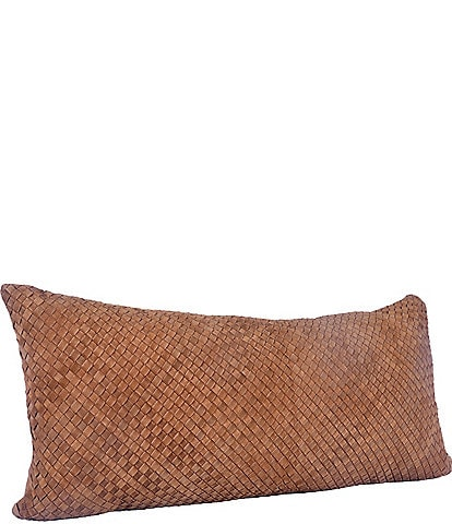 HiEnd Accents Suede Basketweave Long Lumbar Pillow