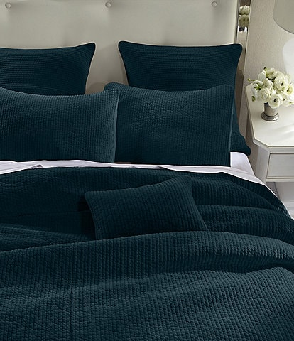 HiEnd Accents Venetian Stone Washed Cotton Velvet Quilt Mini Set