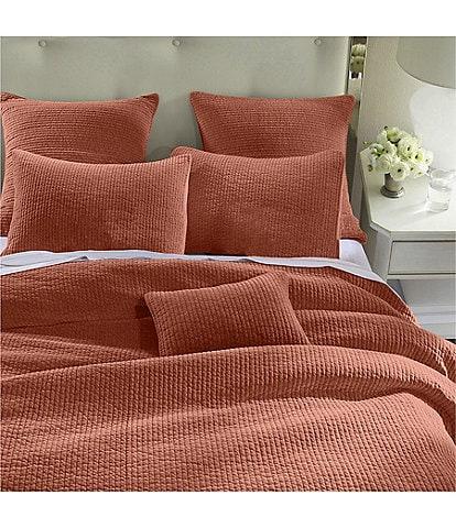 HiEnd Accents Venetian Stone Washed Cotton Velvet Quilt Mini Set