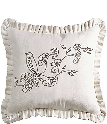 HiEnd Accents Weave Ruffled Pillow