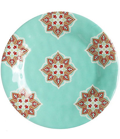 HiEnd Accents Western Melamine Salad Plate, Set of 4