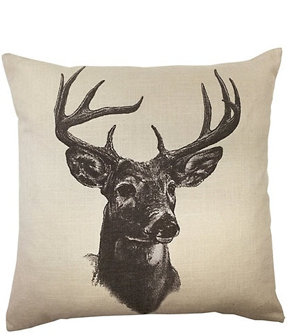 HiEnd Accents Whitetail Deer Pillow