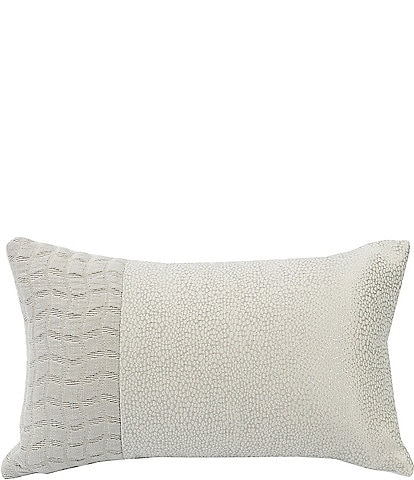 HiEnd Accents Wilshire Natural Embroidered Pillow