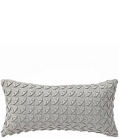 Highline Bedding Co. Adelais Ribbon-Textured Faux-Suede Pillow