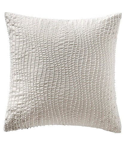 Highline Bedding Co. Jacqueline Beaded Wave Square Pillow