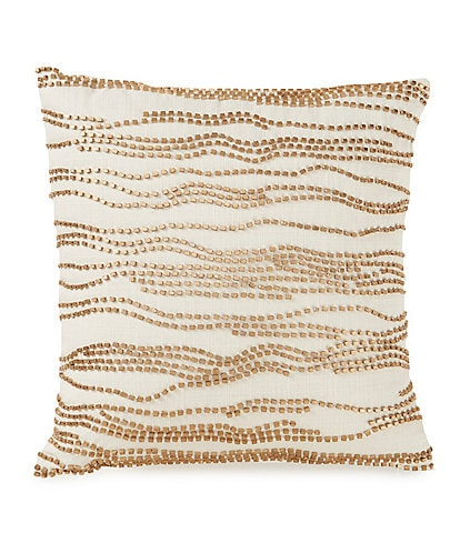 Highline Bedding Co. Madrid Beaded Canvas Square Pillow