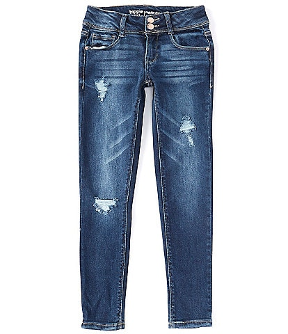 Hippie Girl Big Girls 7-16 Celia Destructed Skinny Jeans