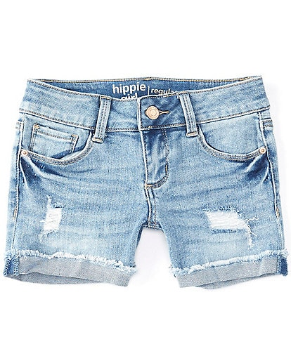 Hippie Girl Big Girls 7-16 Destructed Mid-Length Shorts