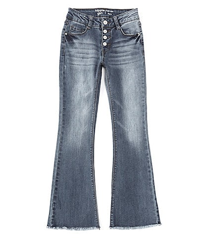 Hippie Girl Big Girls 7-16 High-Rise Distressed Flared Jeans
