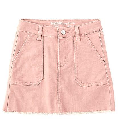 Hippie Girl Big Girls 7-16 Pork-Chop Pocket Fray-Hem Skirt