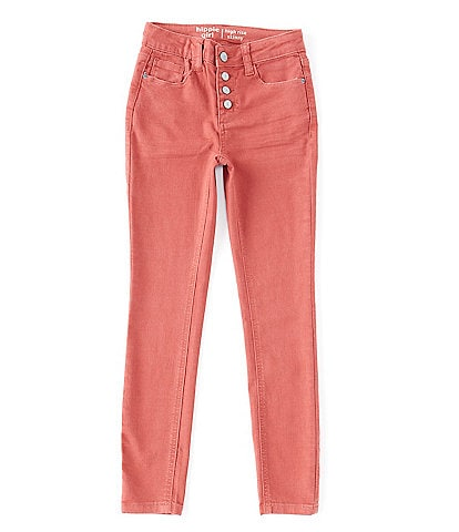 Hippie Girl Big Girls 7-16 Quadruple-Snap Colored Skinny Jeans