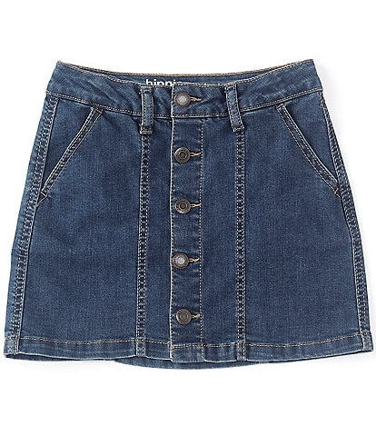 Hippie Girl Big Girls 7-16 REPREVE Recycled Materials Button-Front Denim Skirt