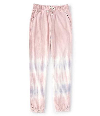 Hippie Girl Big Girls 7-16 Striped Tie Dye French Terry Jogger