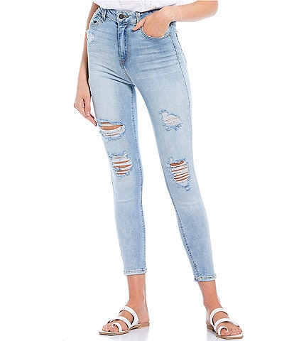 Hippie Laundry Real Cheeky Super High Rise Destructed Skinny Jeans