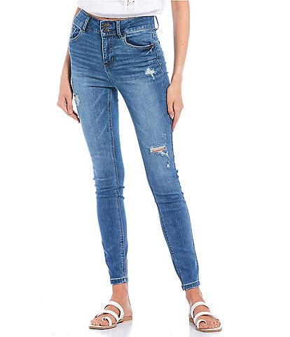 Hippie Laundry Repreve Sustainable High Rise Destructed Powerstretch Skinny Jeans
