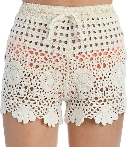 Hobie Crochet Short Swim Cover Up