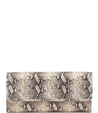 Hobo Ardor Snake Print Leather Continental Wallet