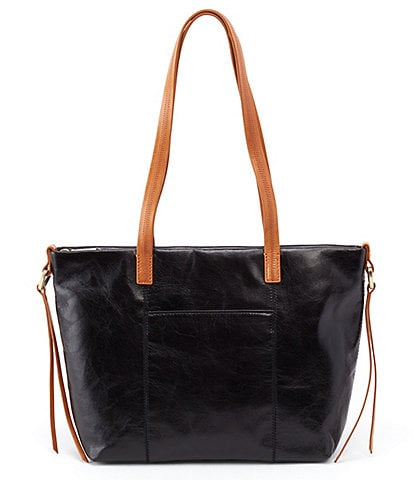 Hobo Cecily Top Grain Leather Colorblock Zip Top Tote Bag