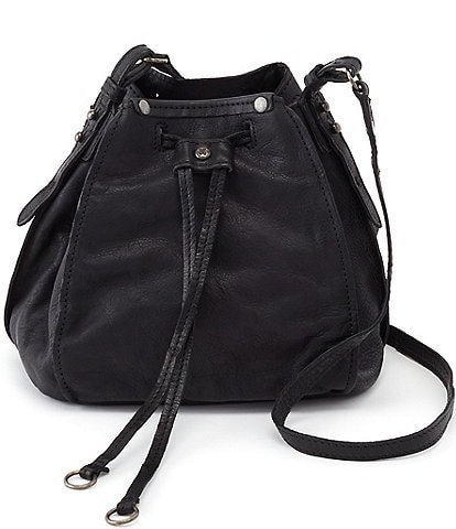 Hobo Cinder Leather Crossbody Bucket Bag