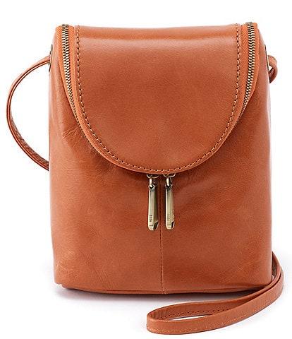 HOBO Fern Leather Zip Crossbody Bag
