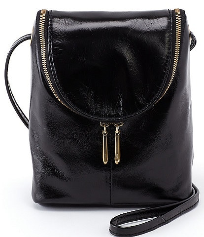 Hobo Fern Leather Zip Crossbody Bag